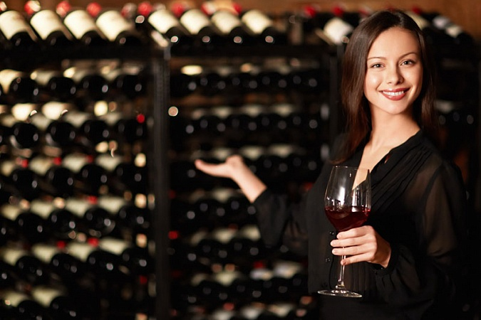 a sommelier tests wine